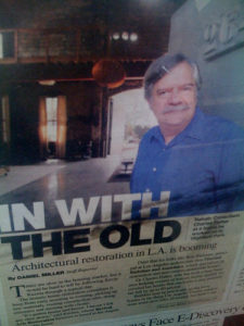 Charles J. Fisher on the cover of the LA Business Journal